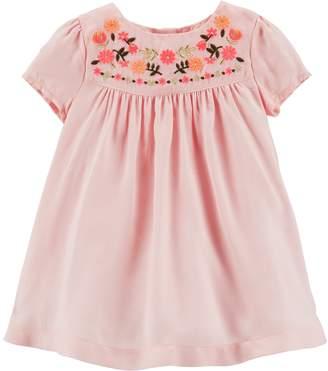 Osh Kosh Oshkosh Bgosh Baby Girl Embroidered Yoke Dress