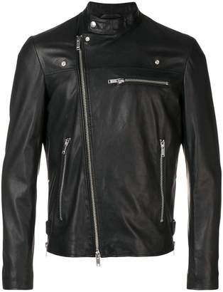 Dondup zipped leather jacket