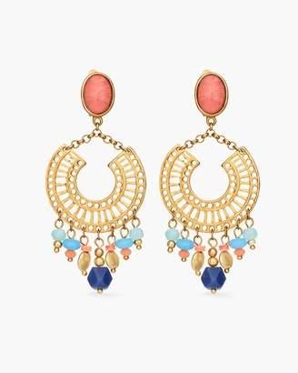 Multi-Colored Beaded Chandelier Earrings