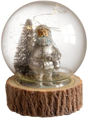 "National Christmas Tree 6"" Glass Santa Snow Globe"