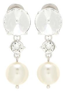 Miu MiuMiu Miu Crystal-embellished Clip-on Earrings