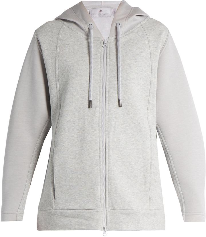 ADIDAS BY STELLA MCCARTNEY Essentials hooded cotton performance sweatshirt
