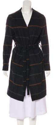Libertine-Libertine Belted Knee-Length Coat