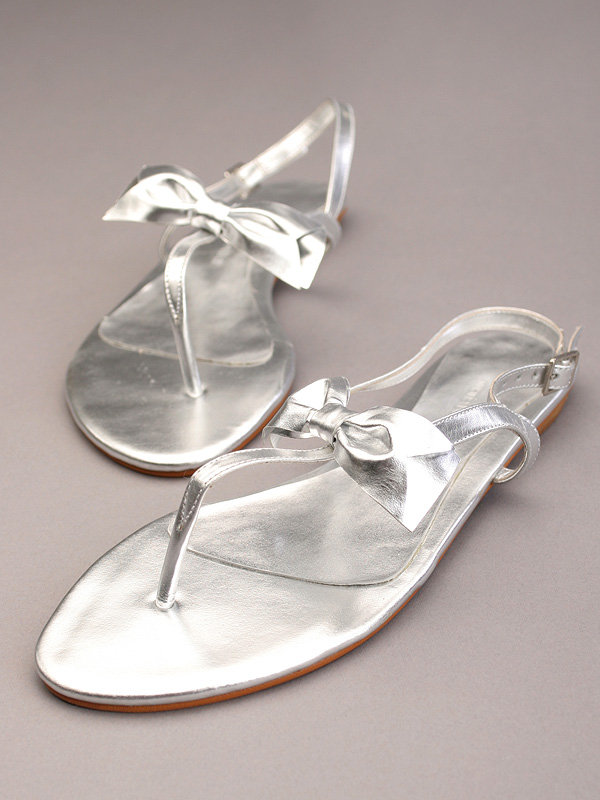 Maria Bonita Extra Shoes Metallic Thongs W Bow