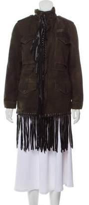 Jocelyn Fur-Lined Army Jacket
