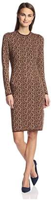 Society New York Women's Leopard Jacquard Dress