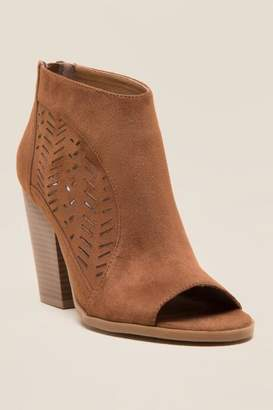Not Rated Jinora Peep Toe Shootie - Taupe