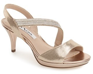 Women's Nina 'Novelle' Crystal Embellished Evening Sandal $88.95 thestylecure.com