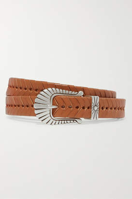 Isabel Marant Jigoo Embellished Braided Leather Belt - Tan