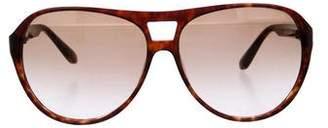 Derek Lam Aviator Tortoiseshell Sunglasses