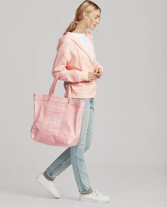 Ralph Lauren Canvas Love Pink Tote Bag