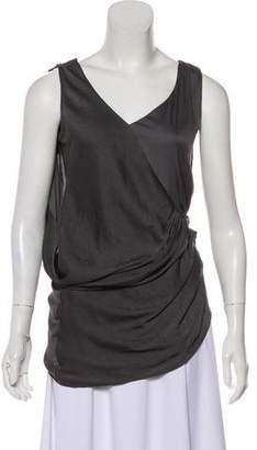 Helmut Lang V-Neck Midi Dress