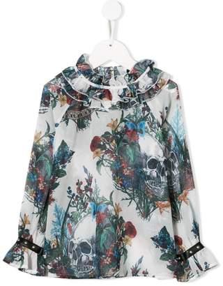 John Richmond Junior mixed-print blouse