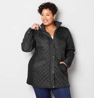 Avenue Quilt Plaid Coat