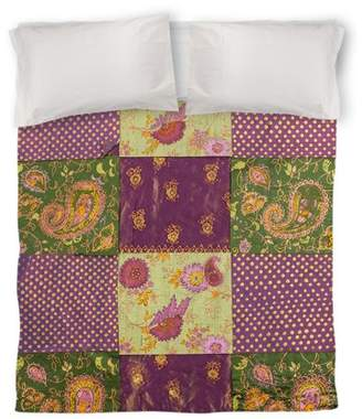 IDG Purple Paisleys and Dots Duvet Cover