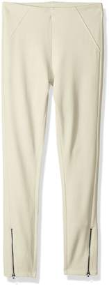 Hue Women's Ankle Zip Simply Stretch Twill Skimmer Leggings, Ankle Zip-Fennel, XL