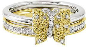 Simply Stacks Sterling Two-Tone Diamond Butterf