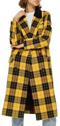 Topshop Ella Tartan Crombie Jacket