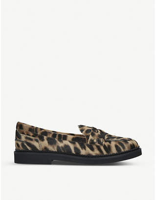 Tod's Tods Leopard-print suede loafers