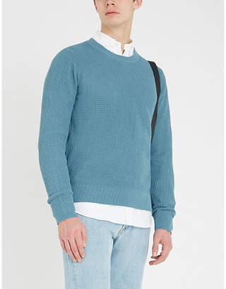 Sandro Celest waffle-knit cotton jumper