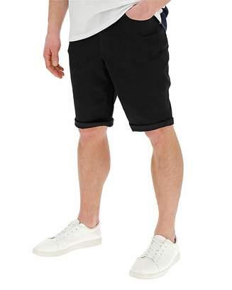 Jacamo Black Slim Denim Shorts