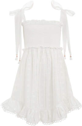 Zimmermann Primrose Shirred Short Dress