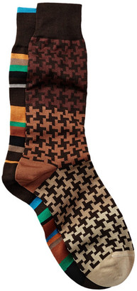Bugatchi Printed Socks - Pack of 2 $39.90 thestylecure.com