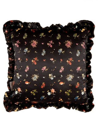 Preen by Thornton Bregazzi Floral Print Silk Cushion - Womens - Black Multi