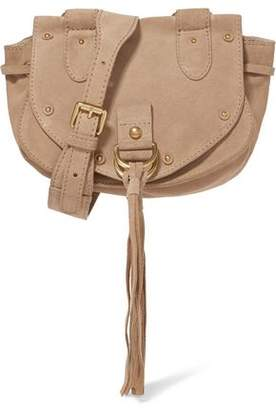 See by Chloe Collins Studded Suede And Pebbled-Leather Shoulder Bag