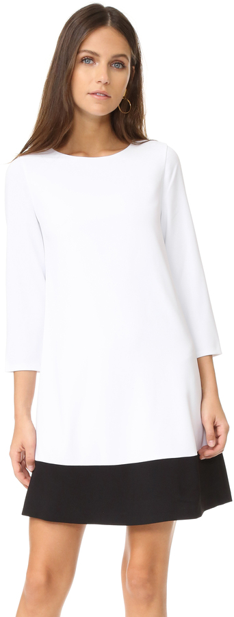 Alice + Olivia alice + olivia Aspen Paneled Boatneck Dress