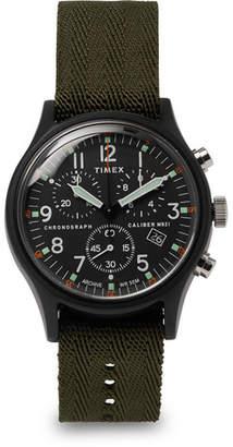 Timex Mk1 Chronograph Aluminium And Nylon-Webbing Watch