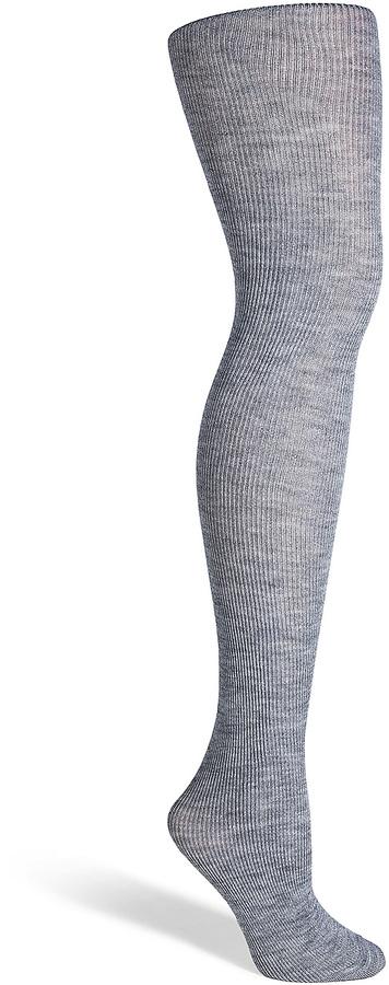 Fogal Grey Heather Wool-Silk-Cashmere Nepal Tights