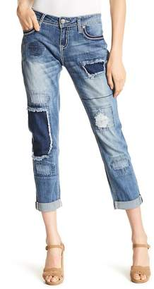 Grace In LA Denim Boyfriend Fit Jeans