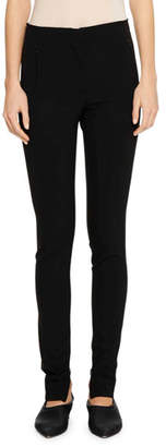 Jil Sander Flat-Fly Legging Pants with Side-Zip Hem
