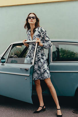Anthropologie 52 Conversations by Colloquial Long-Sleeved Shirtdress
