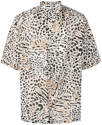 McQ Billy SS leopard print shirt