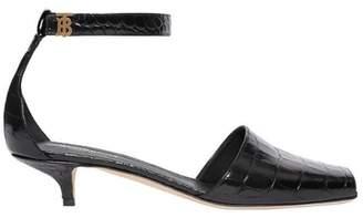 Burberry Monogram Motif Embossed Leather Sandals