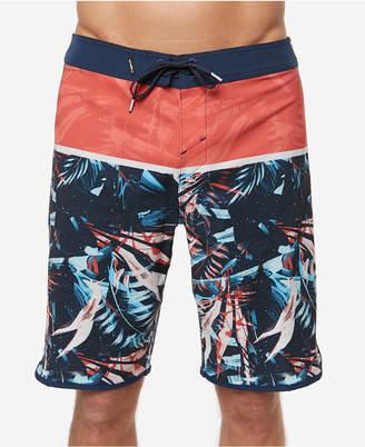 "O'Neill Men's Hyperfreak Ruins Colorblocked Tropical-Print 20"" Board Shorts"