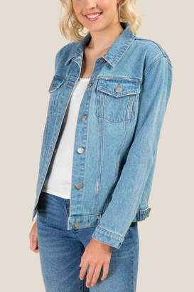francesca's Carman Oversized Denim Jacket - Lite