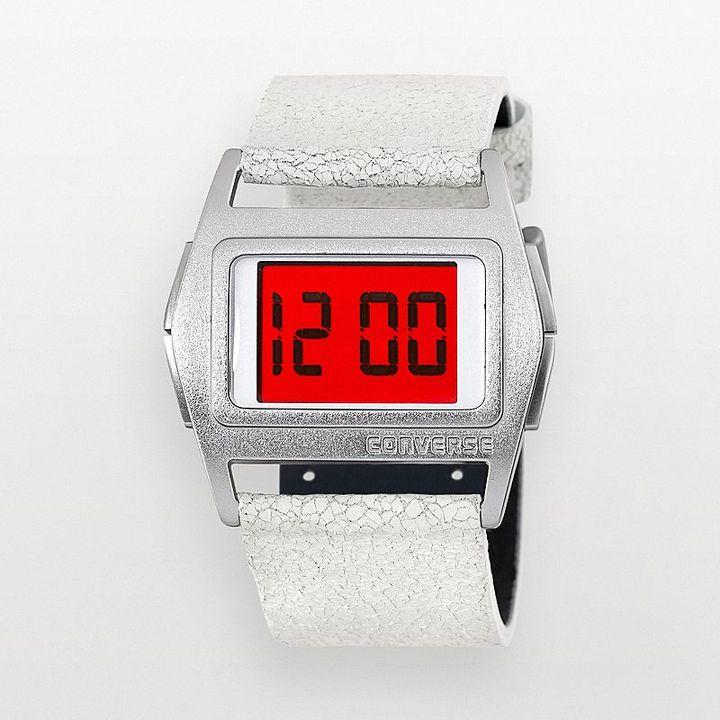 Converse lowboy aluminum white digital watch - vr005150