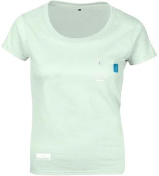 Anchor & Crew Honeydew Green Travel Print Organic Cotton T-Shirt (Womens)