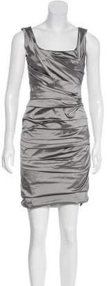 Dolce & Gabbana Silk Ruched Dress