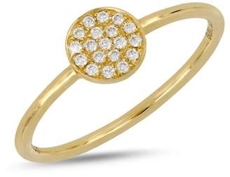 Bony Levy 18K Yellow Gold Diamond Disc Ring