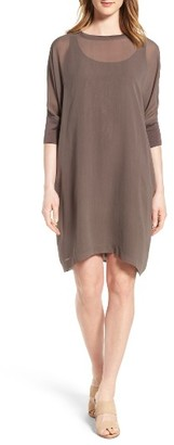 Women's Eileen Fisher Dolman Sleeve Silk Shift Dress $298 thestylecure.com