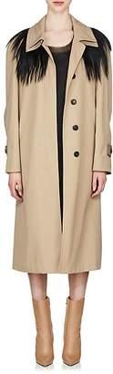 Maison Margiela Women's Fur-Yoke Trench Coat