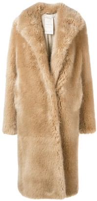 3bb118d9957cd Stella McCartney faux-fur midi coat