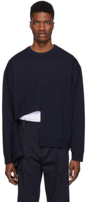 Wooyoungmi Navy Cut-Out Sweater