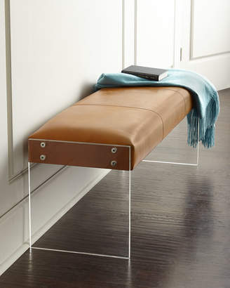 Wallis Interlude Home Leather Bench