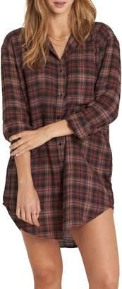 Billabong Tales of Winter Plaid Shirtdress