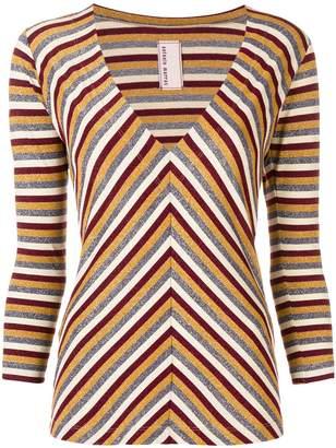 Antonio Marras metallic striped sweater